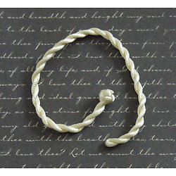 Bracelet queue de rat beige 19cm
