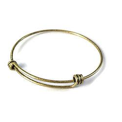 Support de bracelet en métal couleur bronze réglable 65mm
