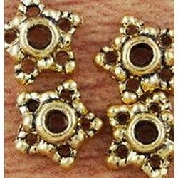 Lot de 6 coupelles structurées en métal doré 8mm