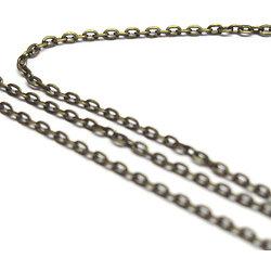 Chaine en métal couleur bronze à petits maillons 2x3mm - au mètre