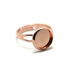 Support de bague pour cabochon rond en métal or rosé 10mm