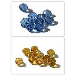 10 perles rondes en cristal de Bohème à facettes 10mm