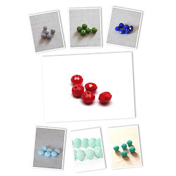 10 perles rondelles en cristal de Bohème 6x8mm