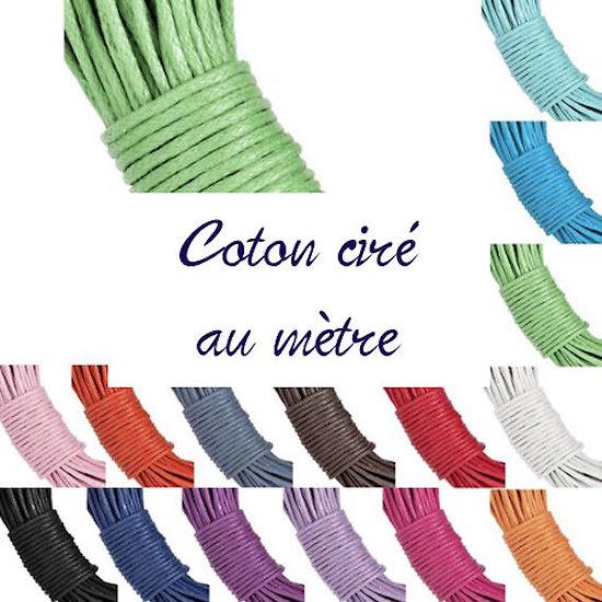 Coton ciré 1mm - vendu au mètre
