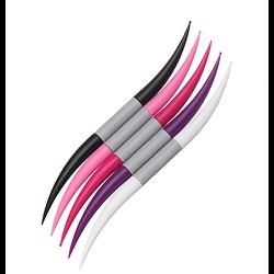 Pochette de 5 mirettes / dotting tools / embossoirs manches ergonomiques