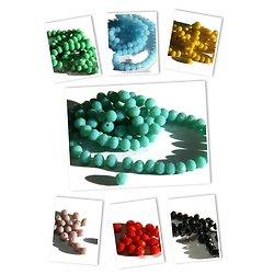 15 perles rondes à facettes en cristal de Bohème opaque 6x4mm