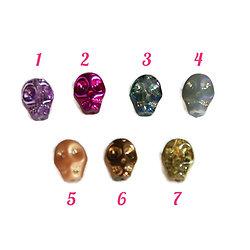 Perle Calavera / tête de mort en cristal de Bohème 10x8x7mm