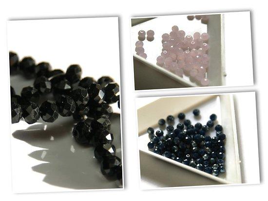 20 perles à facettes en cristal de Bohème 4x3mm