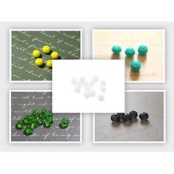 10 perles en cristal à facettes 5x6mm