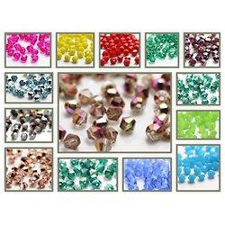 20 perles toupies en cristal de Bohème 4mm