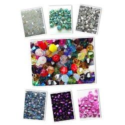 20/50 perles toupies en cristal de Bohème 4mm