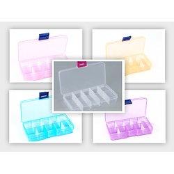 Boîte de rangement en plastique - 10 compartiments amovibles