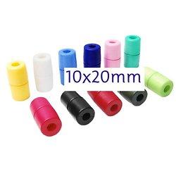 2 fermoirs de sécurité en plastique 10x20mm - 6 couleurs au choix