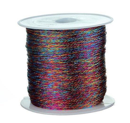 2m de fil lurex multicolore 0,4mm