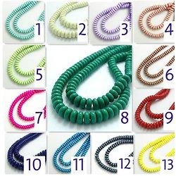 10 perles rondelles en verre 8mm - 13 coloris au choix