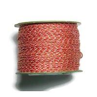 Cordelette lurex / polyester type paracorde multicolore et or 0.8mm