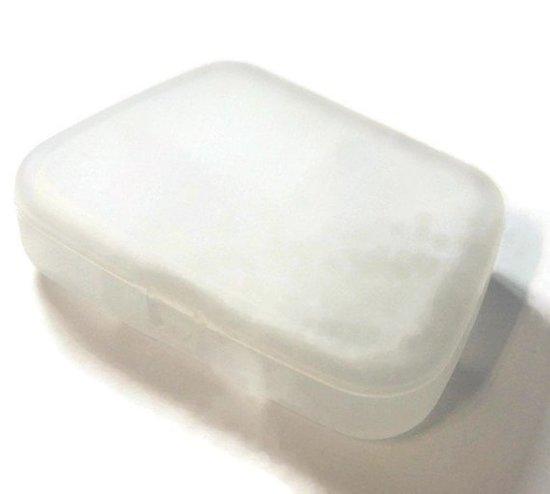 Boîte de rangement en plastique rigide - 5 compartiments - 86x60mm
