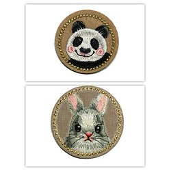 Patch rond animal - 4.5cm