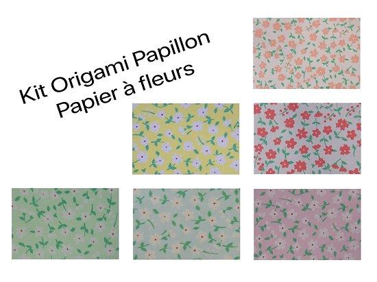 Kit origami papillon DIY - Métal argenté