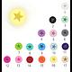 Perle ronde étoile évidée en silicone alimentaire 15mm - 17 coloris
