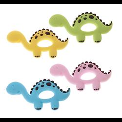 Anneau de dentition dinosaure en silicone alimentaire sans BPA