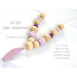 Kit DIY pour créer vous-même votre collier d'allaitement / de dentition en bois et silicone alimentaire sans BPA