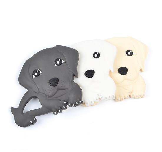Anneau de dentition labrador en silicone alimentaire sans BPA - jouet de dentition, jouet pour bébé