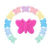 Perle papillon en silicone alimentaire sans BPA 21x29x11mm