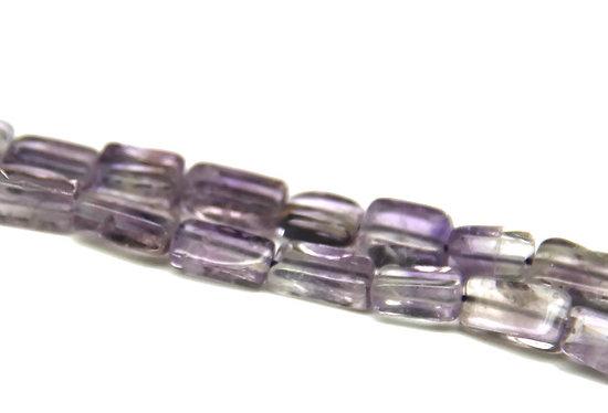 10 perles prismes d'améthyste 8x5x3mm
