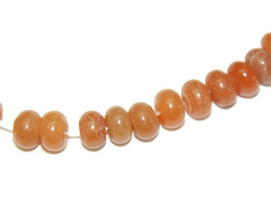 3 perles rondelles d'opale matte 8x5mm