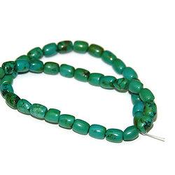 5 perles tambour en turquoise 8x6mm