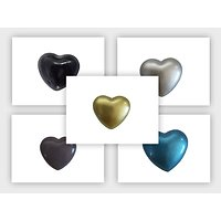 Bola coeur en métal peint 23x25mm