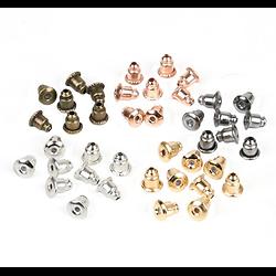 10 embouts poussoirs pour boucles d'oreille en métal 6x5mm - 3 finitions