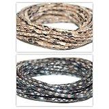 Cordon en simili cuir effet peau de serpent / glam 3mm