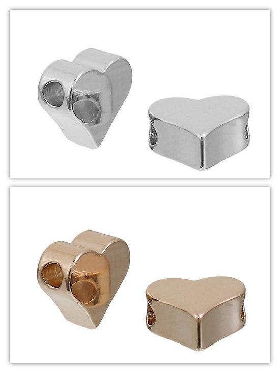 Perle pendentif coeur pour chaîne en métal 5x6mm