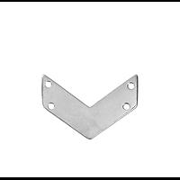 2 connecteurs V à 4 connexions en acier inoxydable 21x14mm