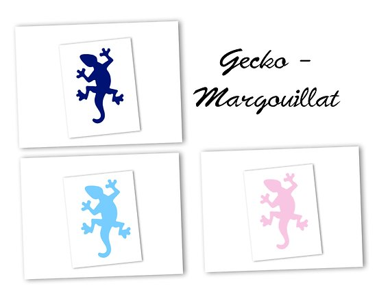 Flex thermocollant gecko / margouillat - 3 couleurs