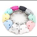 Clip ourson en silicone sans BPA 40x47mm