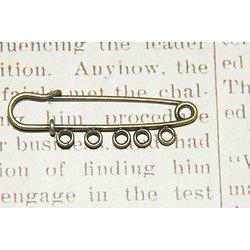 Broche de kilt à 5 anneaux en métal couleur bronze 51x17mm