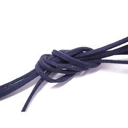 Suédine noire, effet cuir, coupon d'un mètre