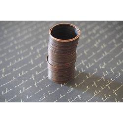 10 tours de fil à mémoire de forme pour bague couleur cuivre 20mm