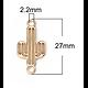 Connecteur cactus en métal doré 27x13mm
