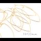 2 crochets d'oreille créoles en pointe en métal doré 38x20mm