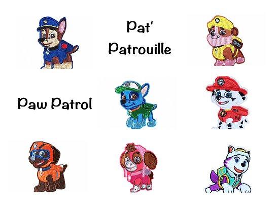 Patch brodé et thermocollant Pat' Patrouille / Paw Patrol