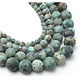 10 perles rondes de turquoise Africaine 6mm