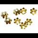 10 grandes coupelles fleur en métal doré 13x13mm
