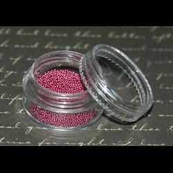 Boîte de 4g de micro billes fuchsia nacrées