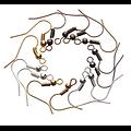 20 crochets d'oreille / dormeuses en métal 20x22mm