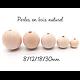 Perles rondes en bois naturel 8/12/18/30mm