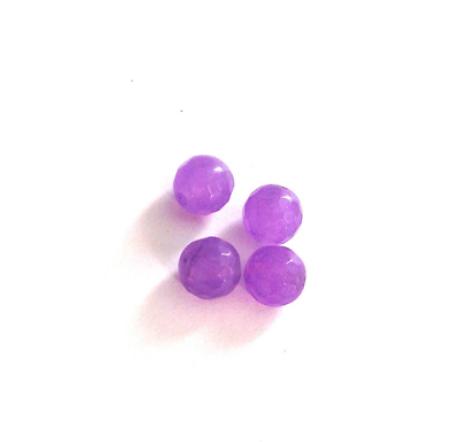 5 perles rondes à facettes en alexandrite mauve 8mm